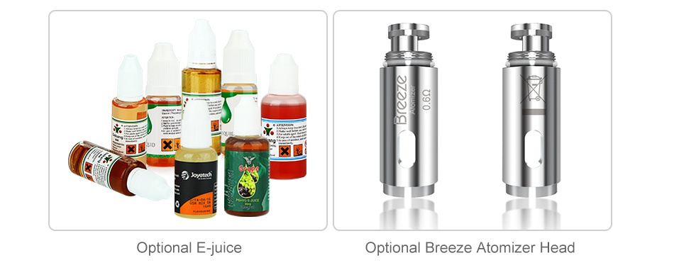 Aspire Breeze AIO Kit 650mAh   Optional E juice Optional Breeze Atomizer Head