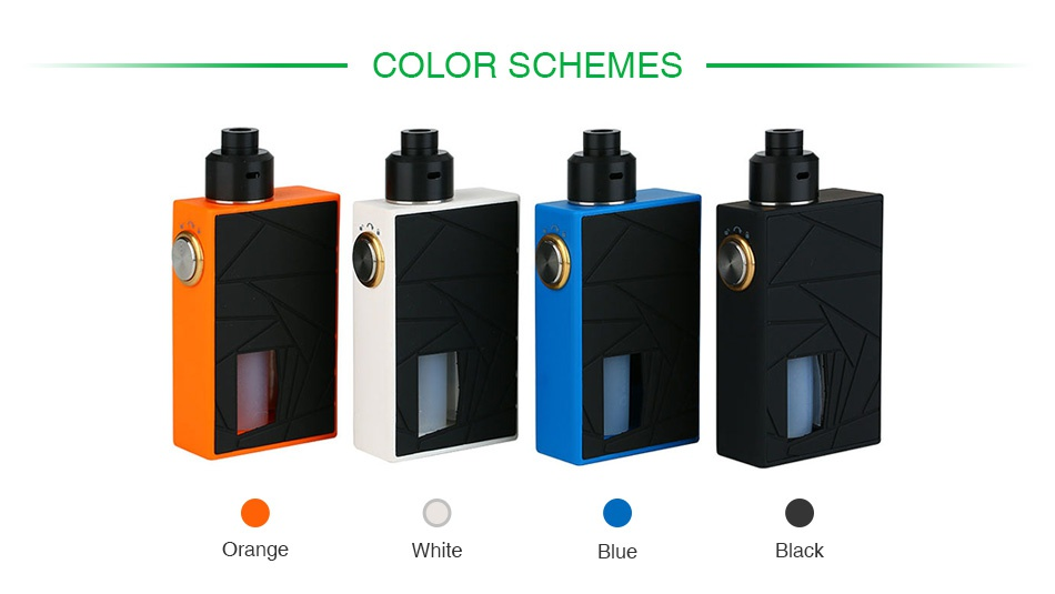 Arctic Dolphin Crea BF Squonk Kit Orange White Blue Black