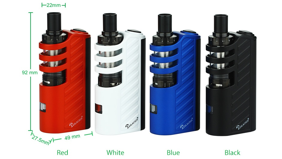 Tesla Stealth 70W With Shadow Starter Kit H22mm A A 92 mm y  49 Red White Black