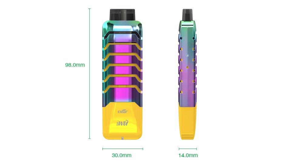 Eleaf iWÅ© 15W Pod Starter Kit 700mAh 98 0mm AlOOF 30 0mm 14 0mm