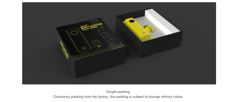 Smoant Battlestar Nano RDA Kit mple packing Customary packi m the factory  the packing is subject to change without notice
