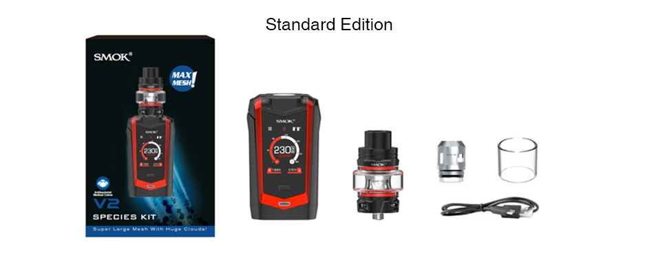 SMOK Species 230W Touch Screen TC Kit with TFV8 Baby V2 Standard edition  f3 SPECIES KIT