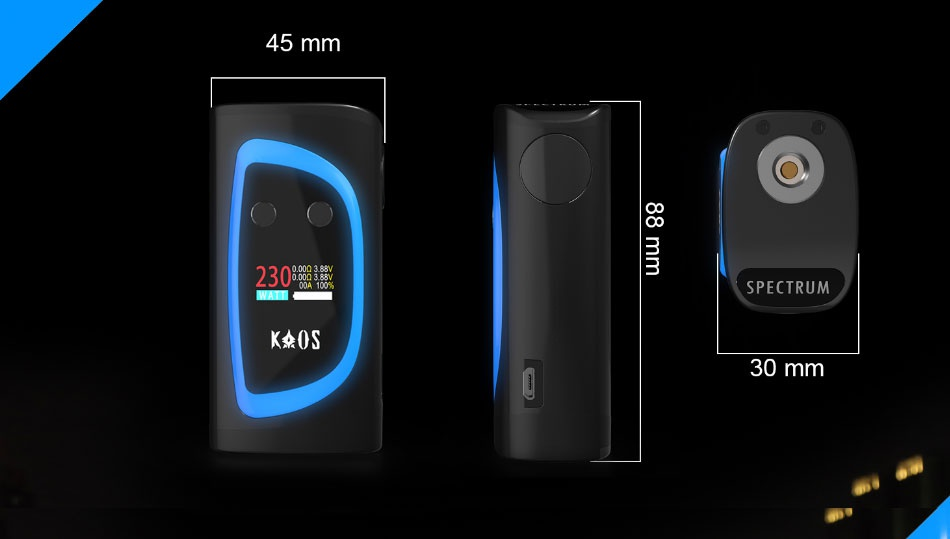 KAOS Spectrum 230W TC Kit 45 mm 3 230  SPECTRUM KAOS 30 mm