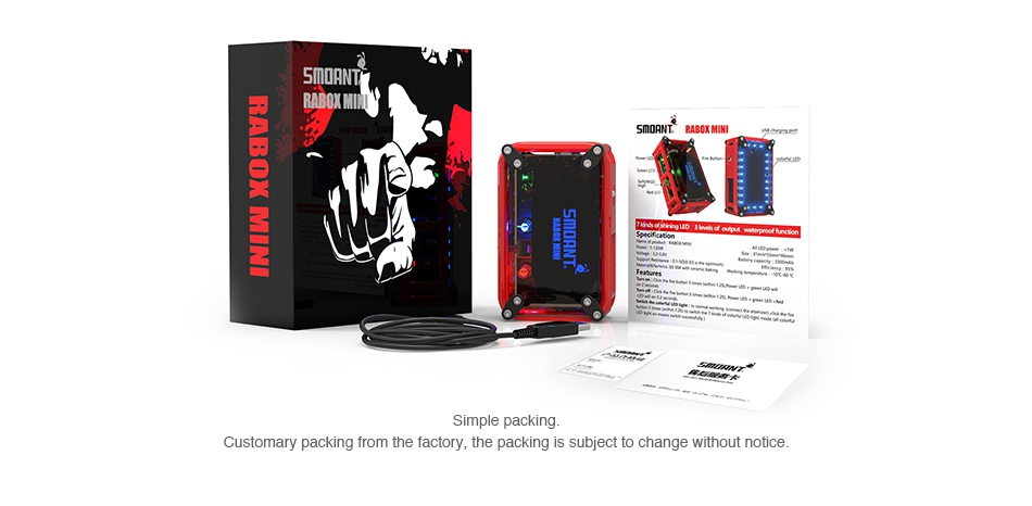 Smoant RABOX Mini MOD 3300mAh 5MmdANT RABOT MINI Simple packing h