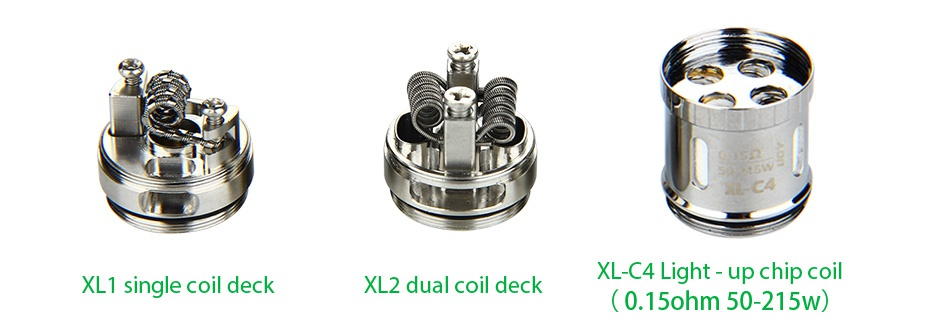 IJOY Limitless XL Tank/RTA 4ml XL C4 Ligh hip coil XL1 single coil deck dual coil deck  0 15ohm50 215W