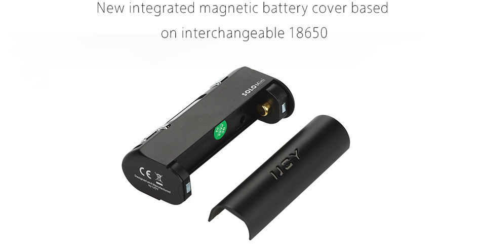 IJOY Solo ELF 80W Starter Kit New integrated magnetic battery cover based on interchangeable 18650