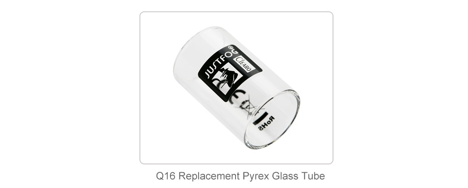 JUSTFOG Q16 Starter Kit 900mAh Q16 Replacement Pyrex Glass Tube