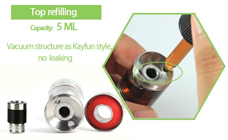 UD Bellus RTA Tank Atomizer 5ml Top refilling capacty  5ML Vacuum structure as Kayfun style no leaking