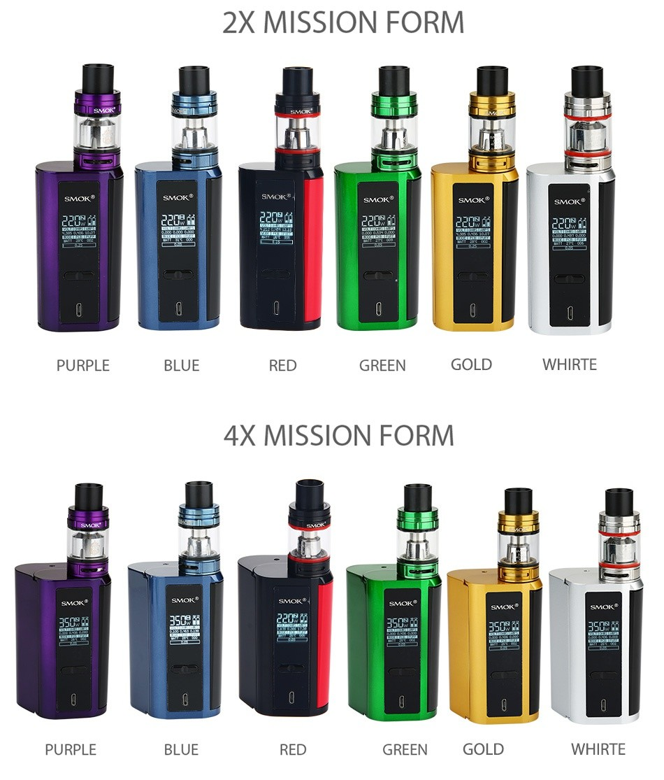 SMOK GX2/4 TC Kit with TFV8 Big Baby 2X MISSION FORM MOK SMOK 22  c  uple black blue black Red black green black gold black Silver black black Red 4X MISSION FORM 3505 Purple black Blue Black Red Black Green Black Gold Black Silver Black Black Red