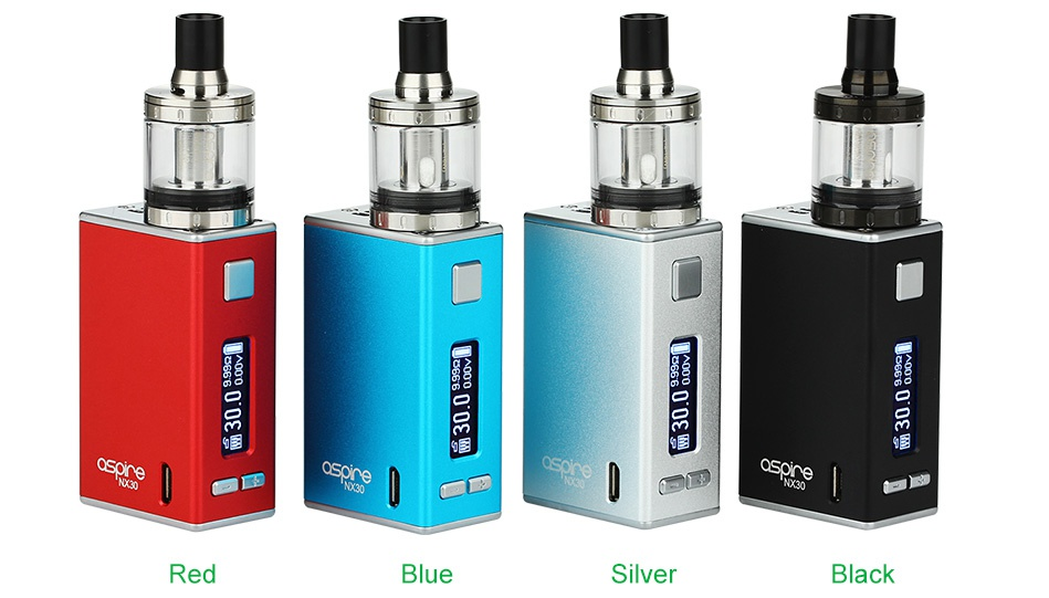 Aspire X30 Rover Kit With Nautilus X And NX30 MOD 2000mAh 3   R e d Blue Si Black