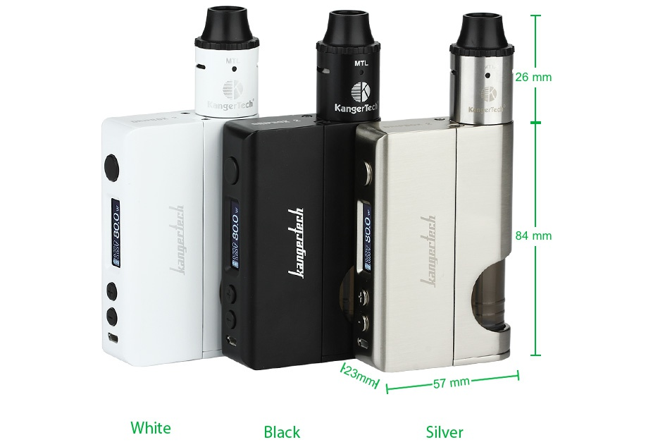 Kangertech Dripbox 2 TC Starter Kit 84 mm White Black Silve