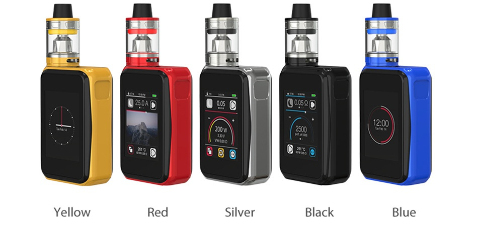 Joyetech Cuboid Pro 200W with ProCore Aries Touchscreen TC Kit a O Yellow Silver Black Blue