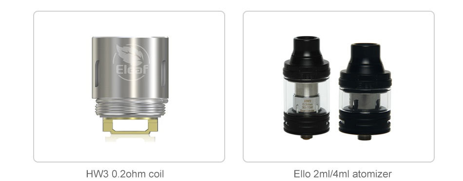 Eleaf iKonn 220 with Ello Kit HW30 ohm coil Ello 2ml 4ml atomizer