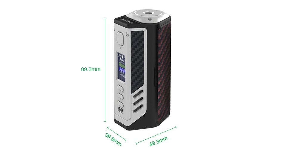 Lost Vape Triade 300W DNA250C TC Box MOD BLACK SILVER Black Grey Kev Red black Kevlar Black Grey Kevlar Red black Kevla