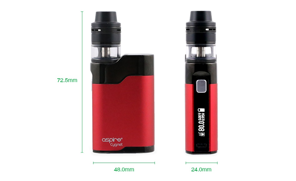 Aspire Cygnet Revvo 80W VW Kit 72 5mm   sore  48 0mm 24 0mm