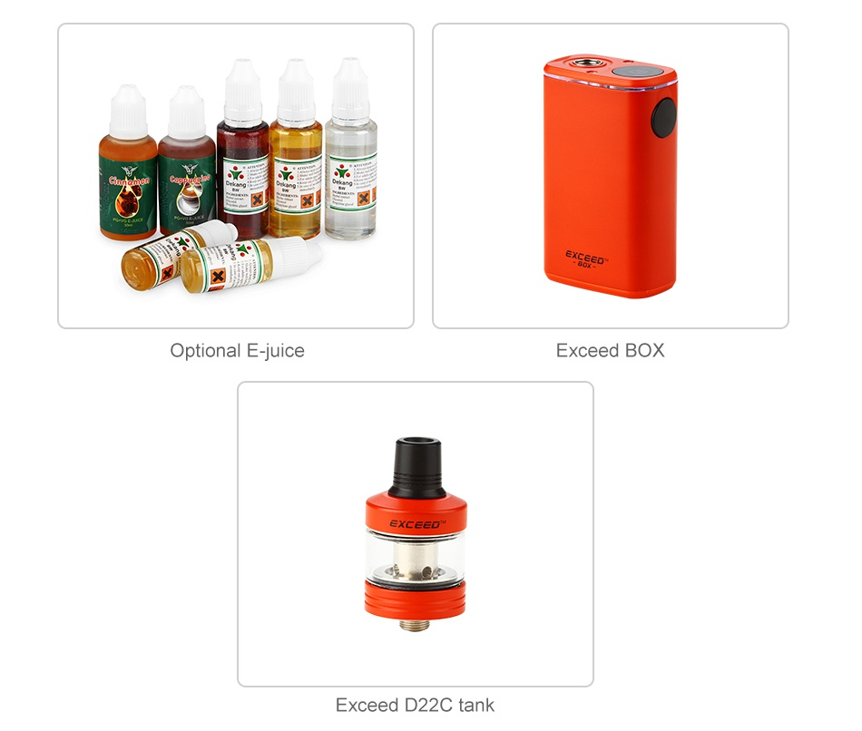 Joyetech Exceed Box with Exceed D22C Starter Kit 3000mAh Optional E juice Exceed boX Exceed D22C tank