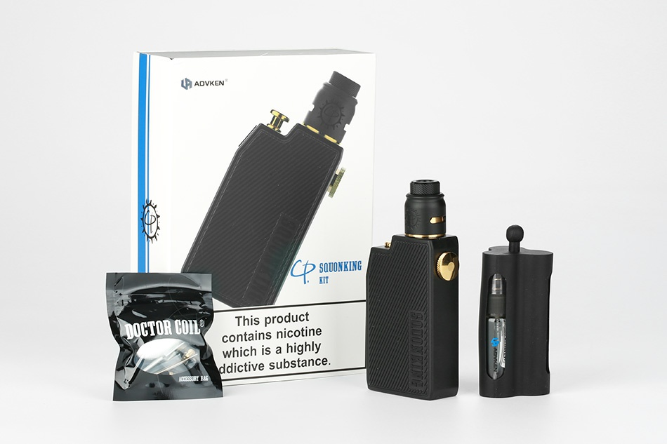 Advken CP Squonking Kit SQUONKING duct DOCTOR CUIL nicotine hich is a high ictive substance