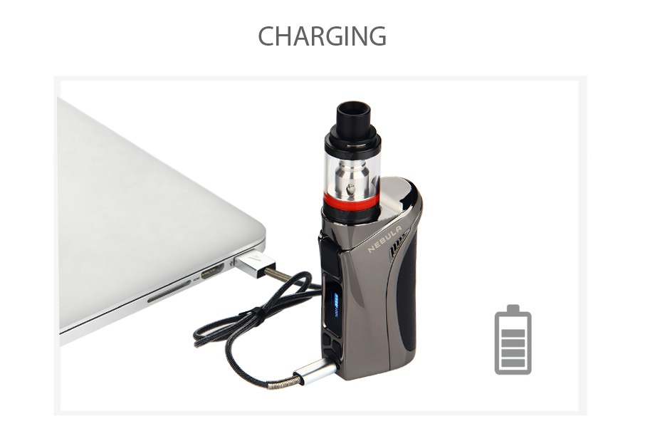 Vaporesso Nebula 100W TC Kit with Veco Plus Tank 4ml CHARGING