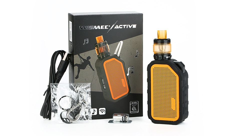 WISMEC Active Bluetooth Music TC Kit with Amor NS Plus 2100mAh WESMED ACTIVE