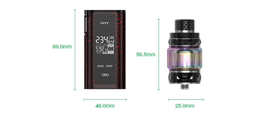 IJOY Captain PD270 234W New Kit with Diamond Tank 6000mAh 23 89 omm 48 0mm 25 0mm