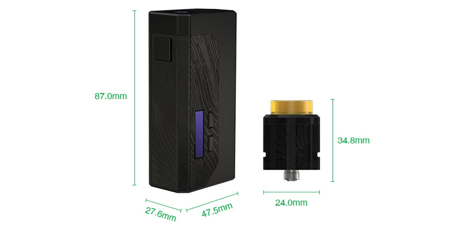WISMEC Luxotic MF Box VV Kit with Guillotine V2(with Screen) 87 omm 24 0mm