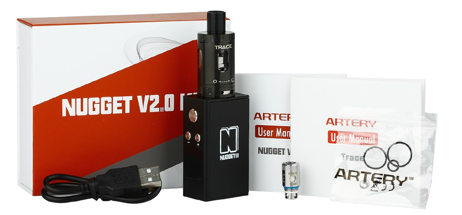 Artery Nugget V2 50W TC Kit With Trace Tank 1500mAh TRACE