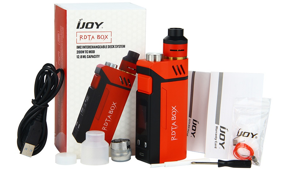 IJOY RDTA BOX 200W Full Kit Y RDTA BOX IMCINTERCHANGEABLE DECK SYSTEM 200W TC MOD 12 8 ML CAPACITY JOY