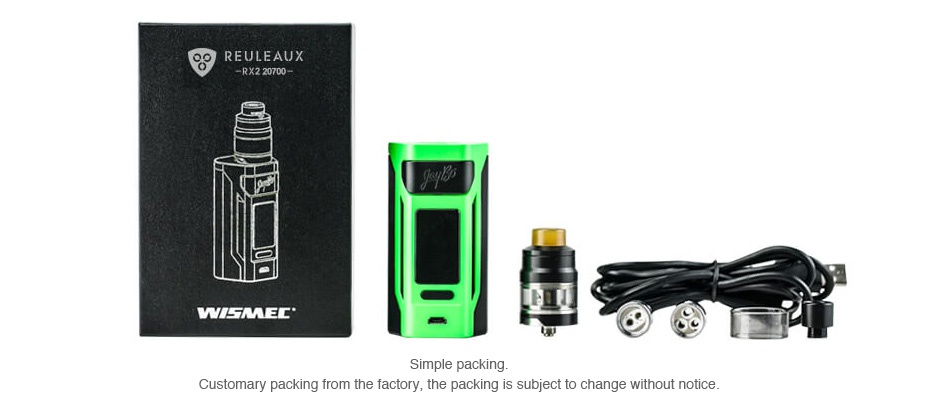 WISMEC Reuleaux RX2 20700 200W with Gnome TC Kit O REULEAUX WLMEL g Customary packing from the factory  the packing is subject to change without notice
