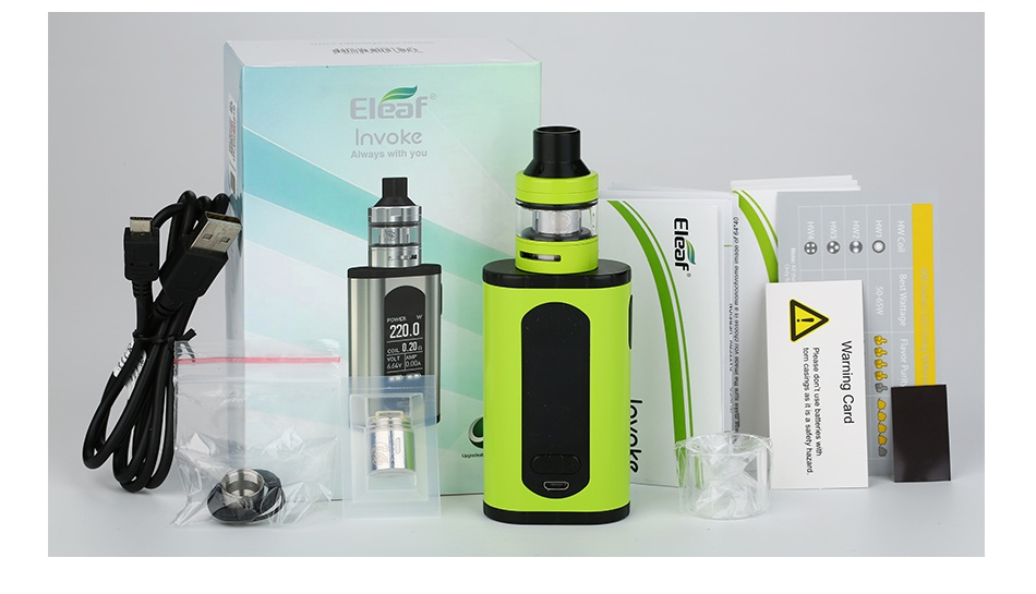 Eleaf Invoke 220W with Ello T TC Kit E  6 e O