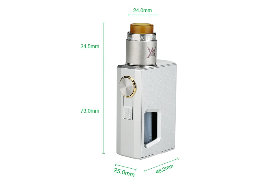 GeekVape Athena Squonk Kit with BF RDA 24 0mm 24 5mm 73 0mm