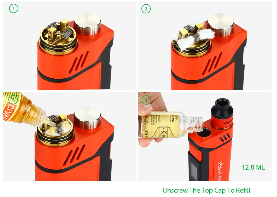 IJOY RDTA BOX 200W Full Kit 2 8 Unscrew The Top Cap To Refill