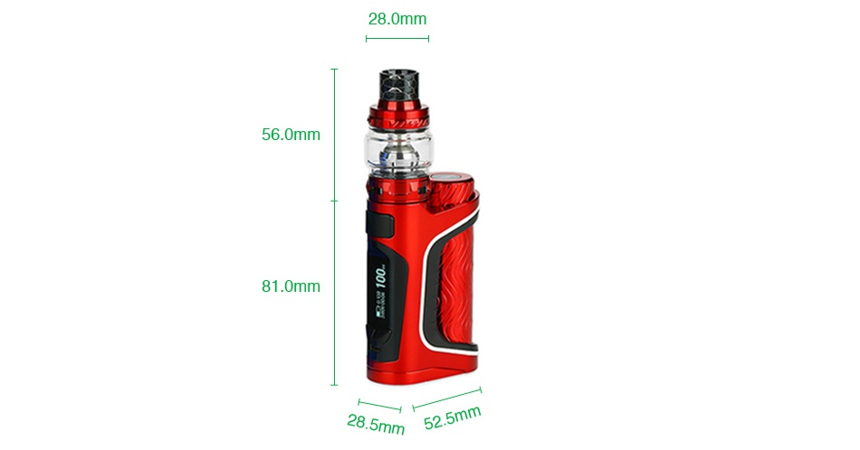 Eleaf iStick Pico S 100W TC Kit 28 0mm   56 0mm 81 0mm 28 5mm 5m m