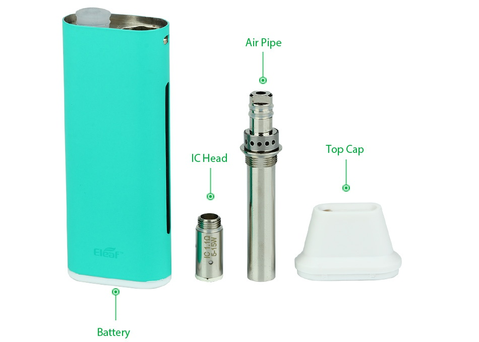 Eleaf iCare Mini PCC Starter Kit 2300mAh ip Top Ca ICHead Battery