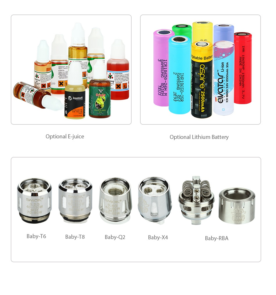 SMOK Alien 220W Kit with TFV8 Baby  a    x   uIce Optional Lithium Battery Baby Te Baby T8 Baby Q2 Baby  4 Baby RBA