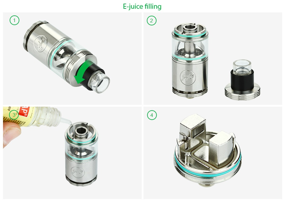 WISMEC Cylin RTA Atomizer Kit 3.5ml E juice filling