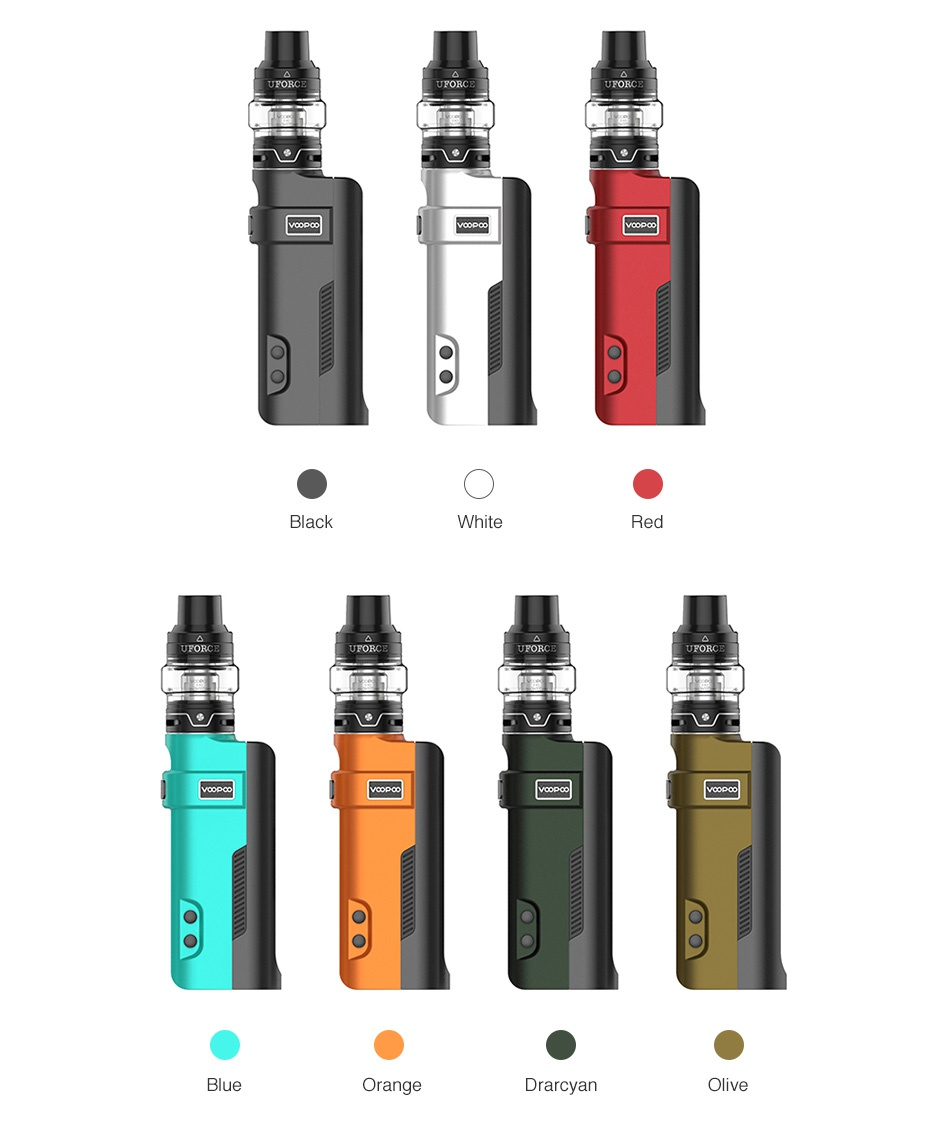 VOOPOO REX 80W TC Kit with UFORCE Tank Black White ange Drarcvan Ive