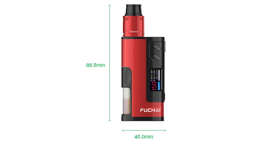 Fuchai Squonk 213 150W 21700 VW Kit 88 5mm FUCHAI 45 0mm