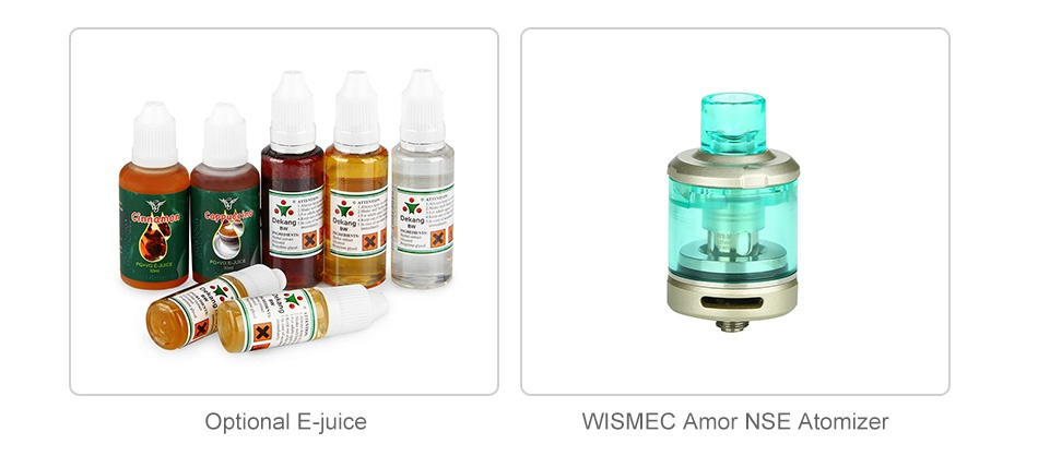 WISMEC SINUOUS V200 200W TC Kit with Amor NSE Optional E juice WISMEC Amor NSE Atomizer