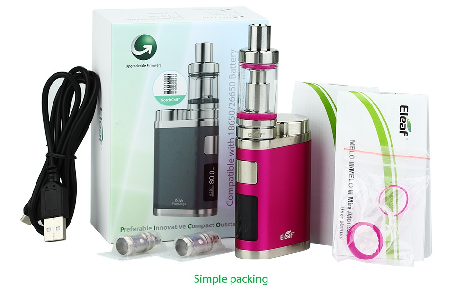 Eleaf iStick Pico Mega 80W TC Full Kit oo mo 3mroE3 Preferable Innovative Compact Outst Simple packing