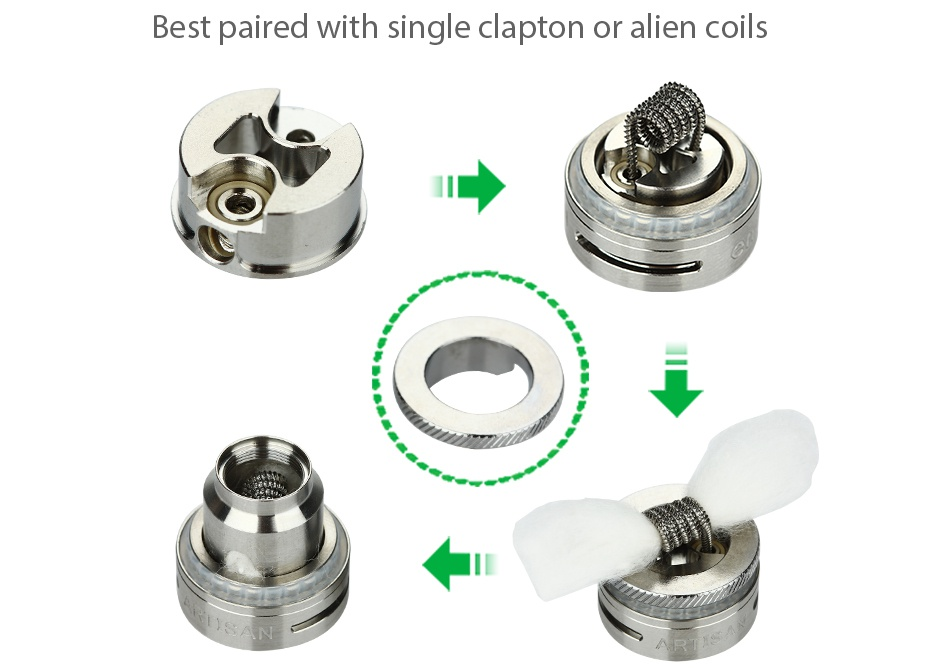 Envii Artisan RTA 3ml Best paired with single clapton or alien coils