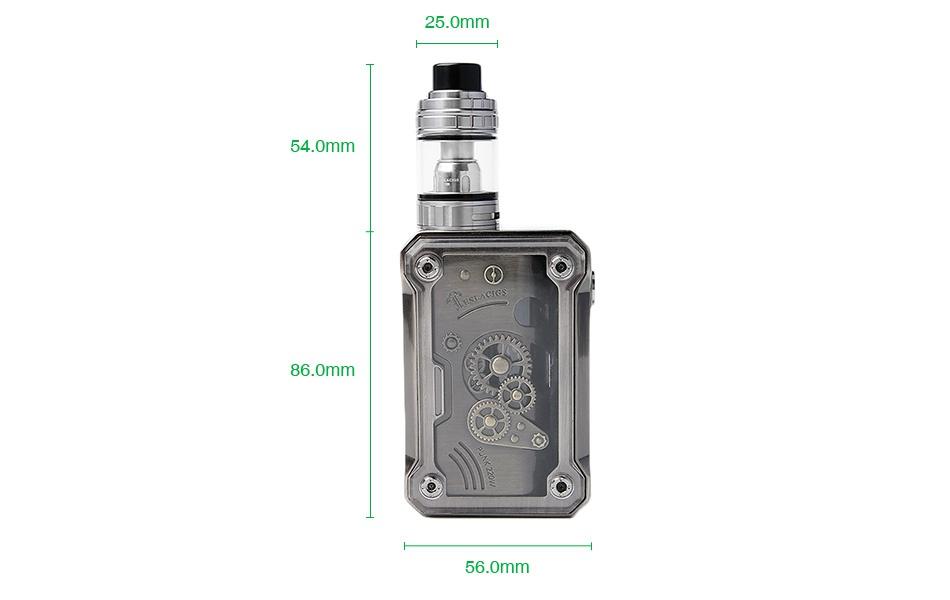 Tesla Punk 220W TC Kit with H8 Tank 25 0mm 4 0mm 86 0mm 56 omm