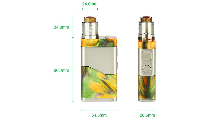 WISMEC Luxotic NC 250W 20700 Kit with Guillotine V2 24 0mm 34 8mm 6 2mm 4 5mm 26 6mm