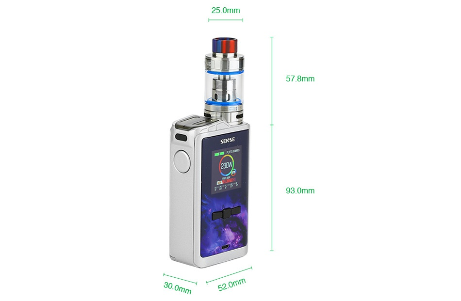 Linkedvape Classic Arrow 230W TC Kit 25 0mr 578mm 93 0mm m
