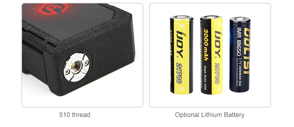IJOY EXO PD270 207W 20700 TC MOD oe   510 thread Optional Lithium Battery