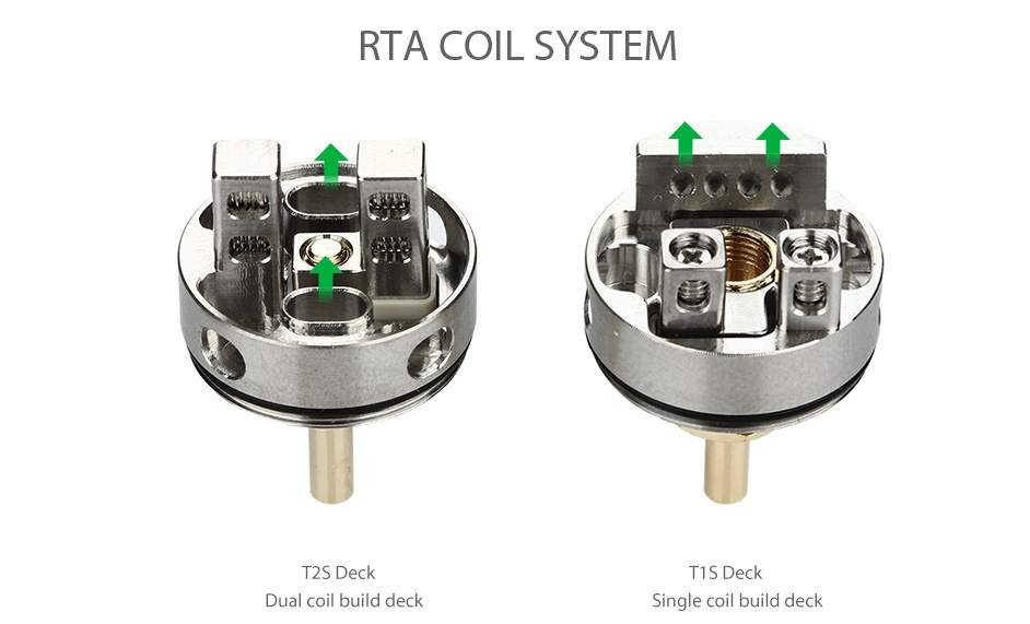 IJOY EXO RTA 6ml RTA COIL SYSTEM     T2S Deck Dual coil build deck Single coil build deck