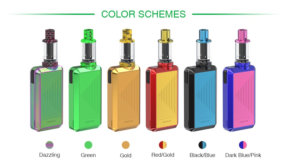 Joyetech Batpack Kit with ECO D16 COLOR SCHEMES Dazzling Green Red  gold Black Blue Dark blue pink