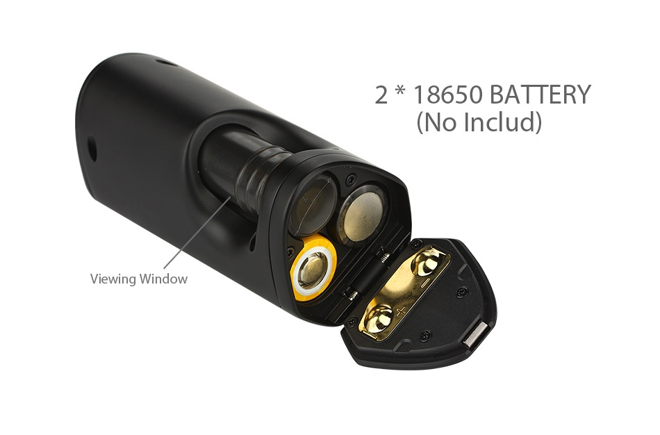 GeekVape GBOXS100 TC MOD 2 18650 BATTERY  No Includ  Viewing Window