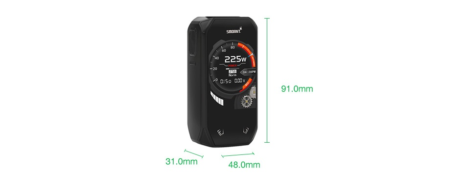 Smoant Naboo 225W TC Box MOD 225W 91 0mm 31 0mm 8 0mm