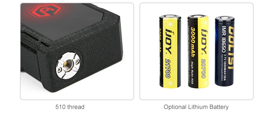IJOY EXO PD270 207W 20700 TC MOD 6000mAh x939 s   510 thread Optional Lithium Battery