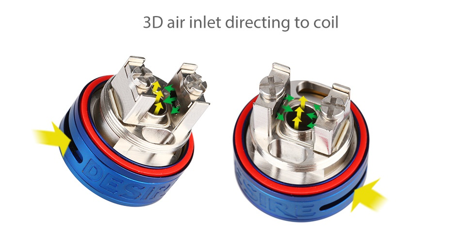 Desire Mad Dog GTA 3.5ml 3D air inlet directing to coil